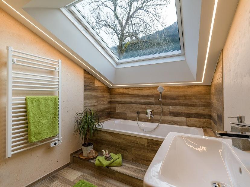 Panorama Lodge Alm Walchsee Badezimmer